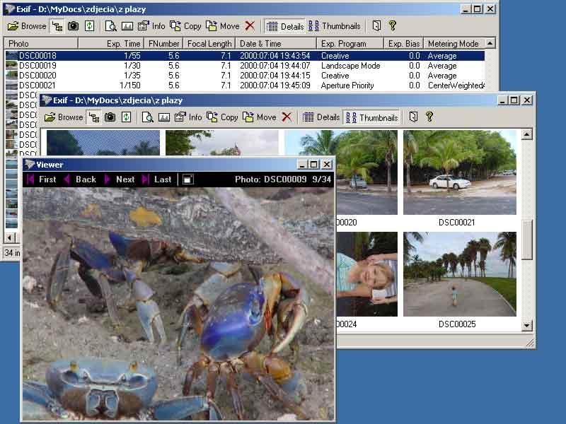 Pantallazo ExifPro Image Viewer