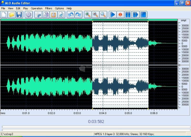 Pantallazo ALO Audio Editor