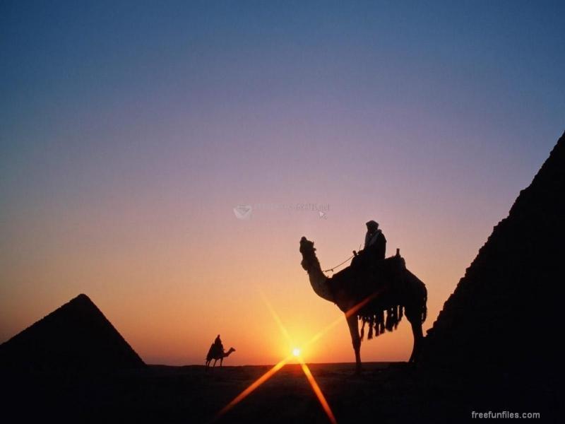 Pantallazo Piramides al Anochecer
