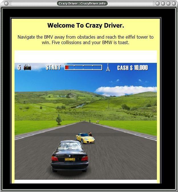 Pantallazo Crazy Driver