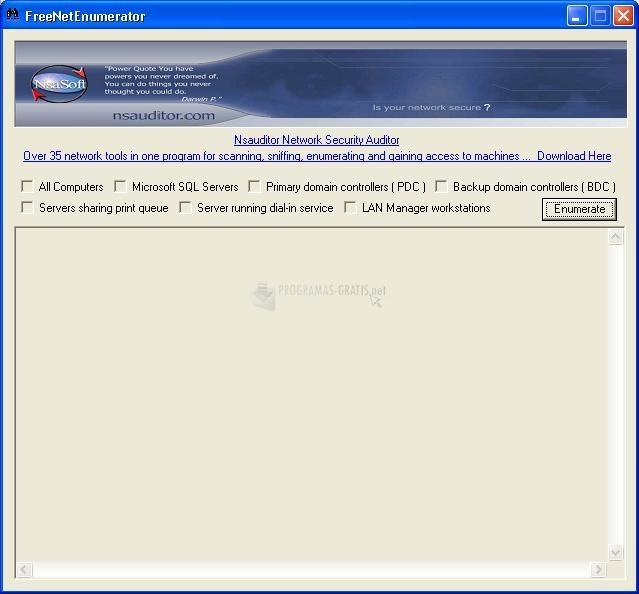 Pantallazo Free Net Enumerator