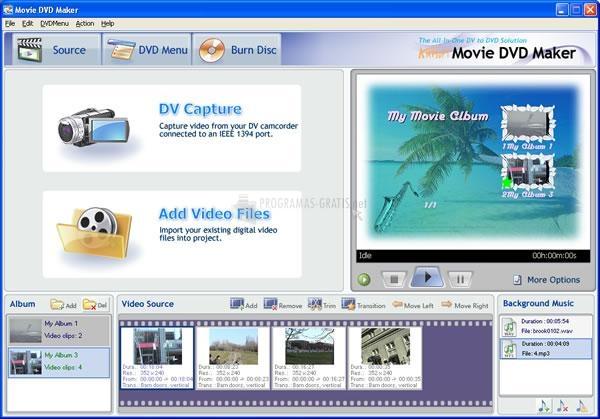 Pantallazo AnvSoft Movie DVD Maker