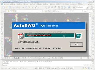 Pantallazo PDFIn PDF to DWG Converter