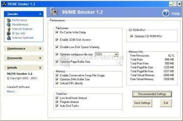 Pantallazo 98/Me Smoker