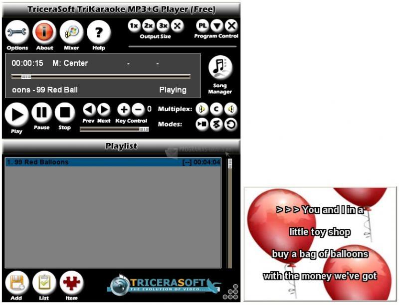 Pantallazo TriKaraoke MP3 G Player