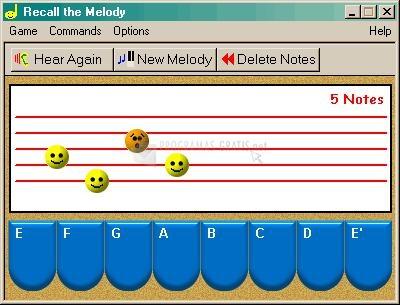 Pantallazo Recall the Melody