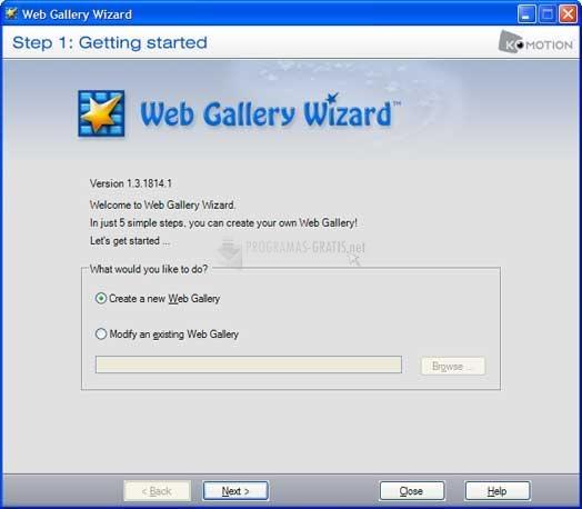 Pantallazo Shozam Web Gallery Generator
