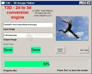 Pantallazo T3D 2D to 3D Converter
