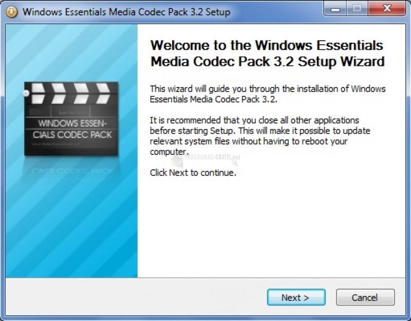 Pantallazo Cucusoft Codec Package