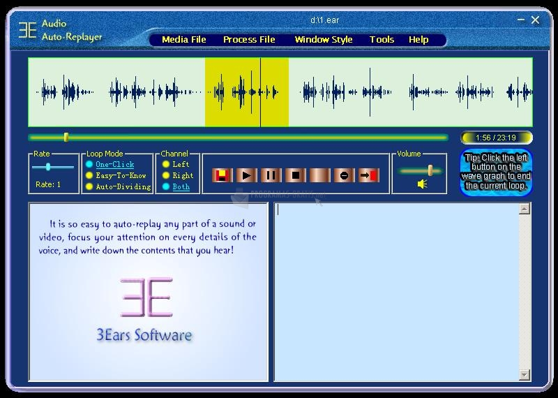 Pantallazo Audio Replayer