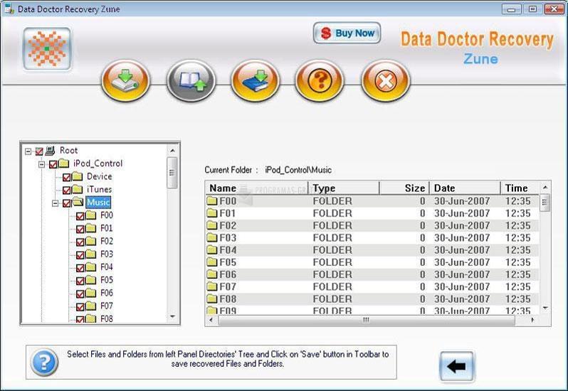 Pantallazo Data Doctor Recovery Zune