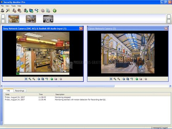 Pantallazo Security Monitor Pro