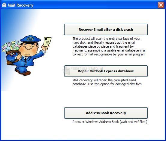 Pantallazo DiskInternals Mail Recovery
