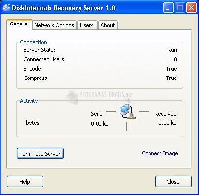 Pantallazo DiskInternals Recovery Server