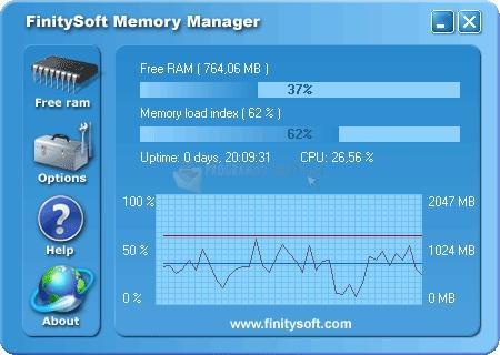 Pantallazo FinitySoft Memory Manager