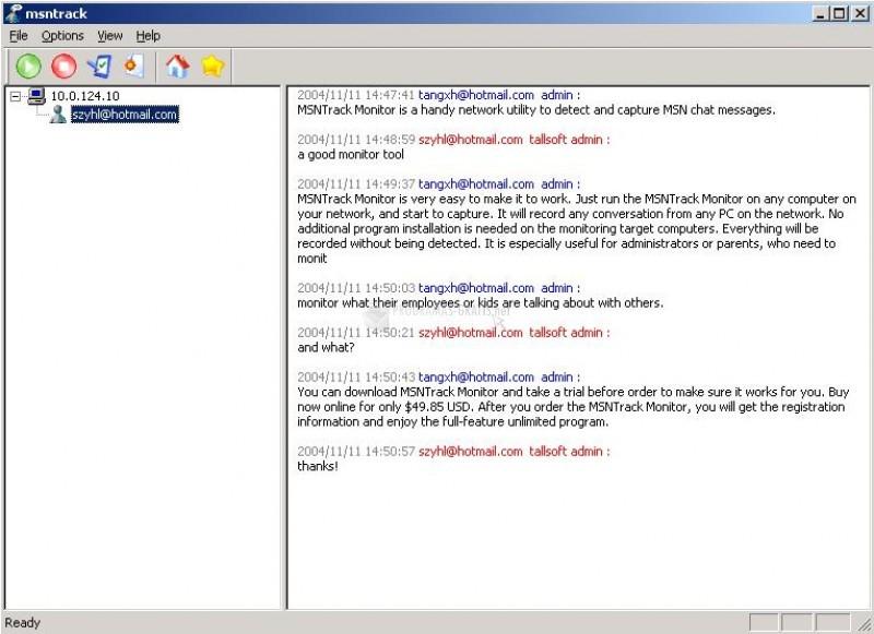 Pantallazo MSN Track Monitor