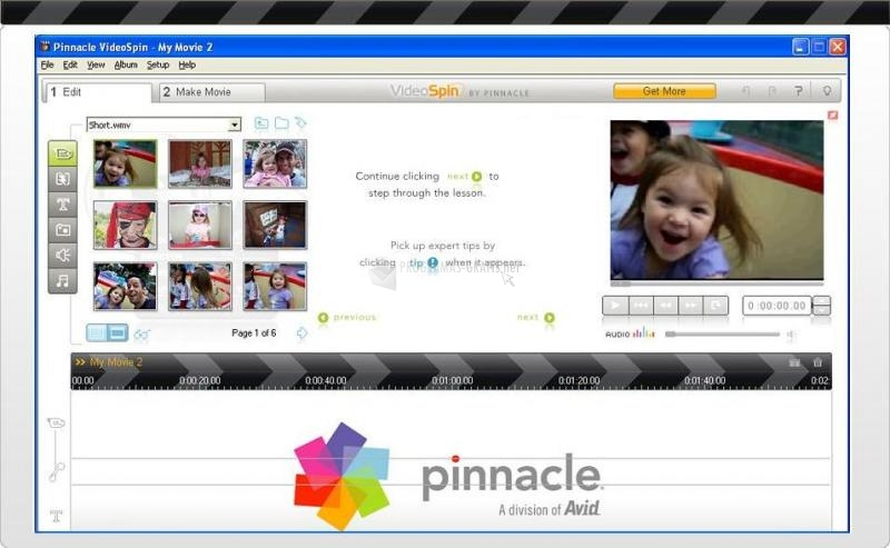 gratis programa pinnacle videospin