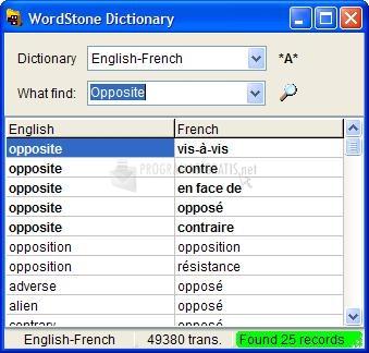 Pantallazo WordStone