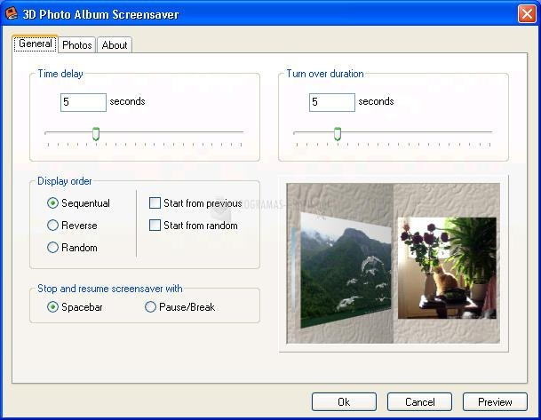 Pantallazo 3D Photo Album Screensaver
