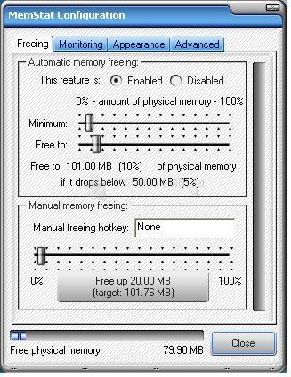Pantallazo Memory Monitor