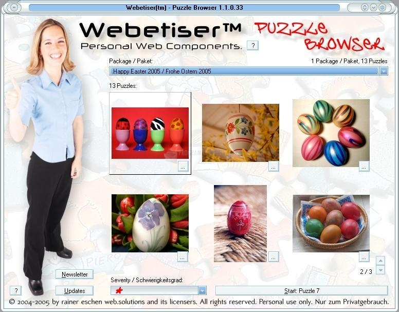 Pantallazo Webetiser Puzzles Easter