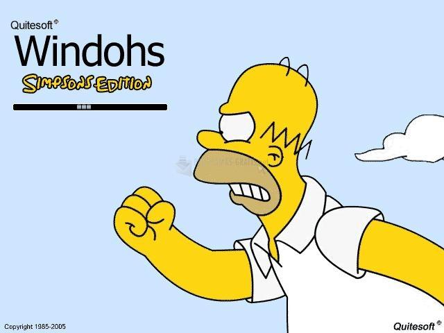 Pantallazo Windohs Simpsons Edition