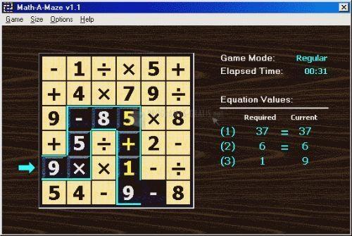 Pantallazo Math-A-Maze