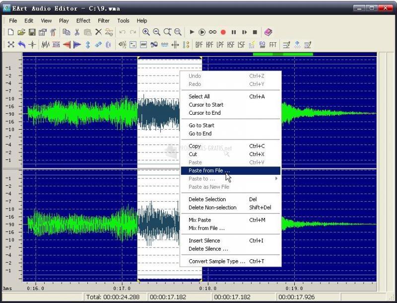 Pantallazo EArt Audio Editor