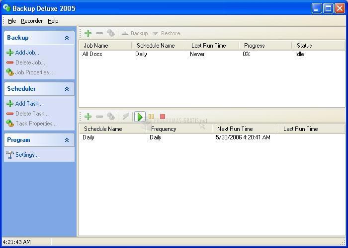 Pantallazo Backup Deluxe 2005