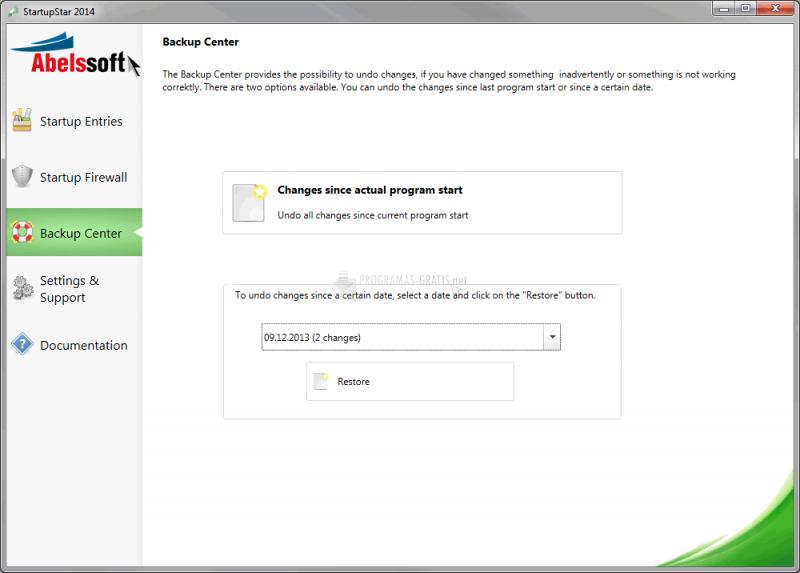 Screenshot Startup Star