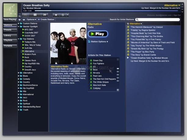 Pantallazo Slacker Software Player