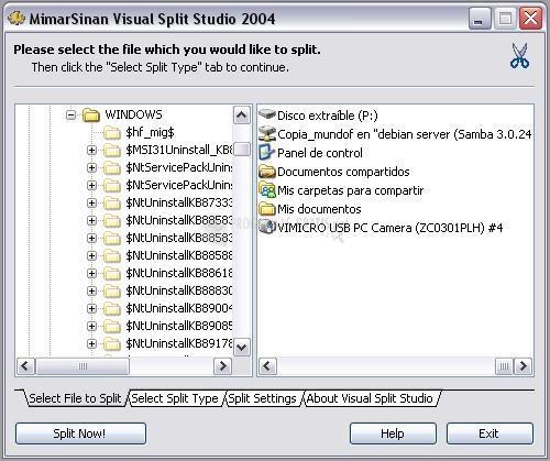 Pantallazo Visual Split Studio