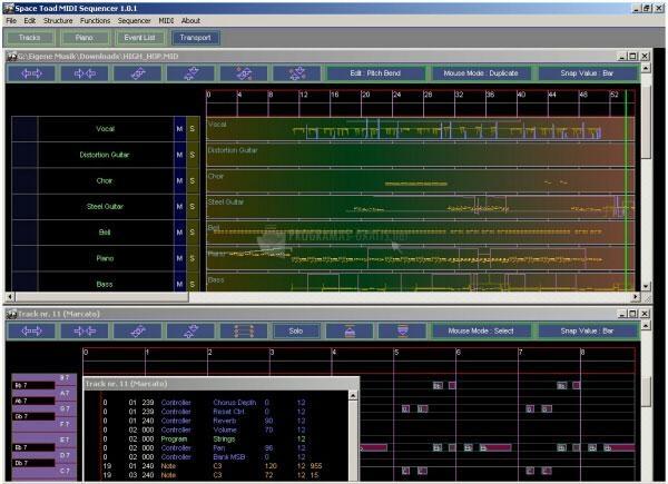 Pantallazo Space Toad MIDI Sequencer