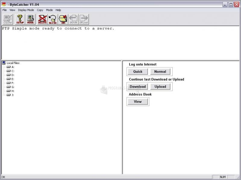 Pantallazo ByteCatcher FTP