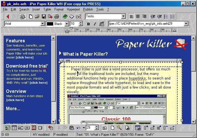 Pantallazo Paper Killer