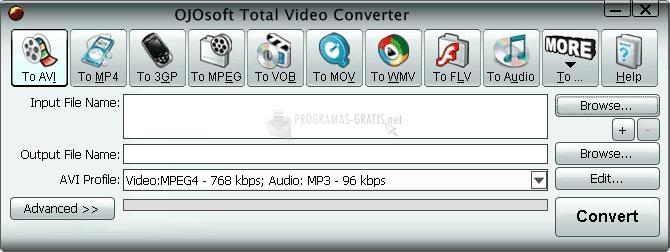 Pantallazo OJOsoft Total Video Converter