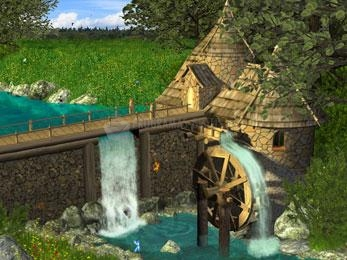 Pantallazo Watermill by Waterfall