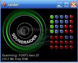 Pantallazo Sound Raider