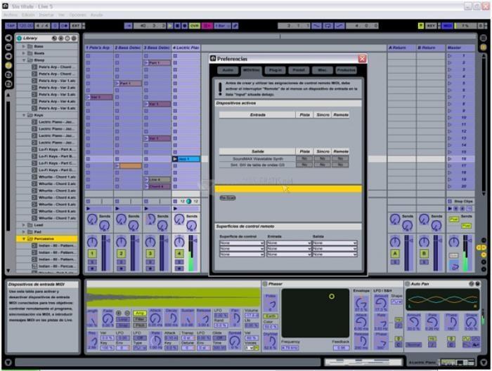 Pantallazo Ableton Live (Multilenguaje)