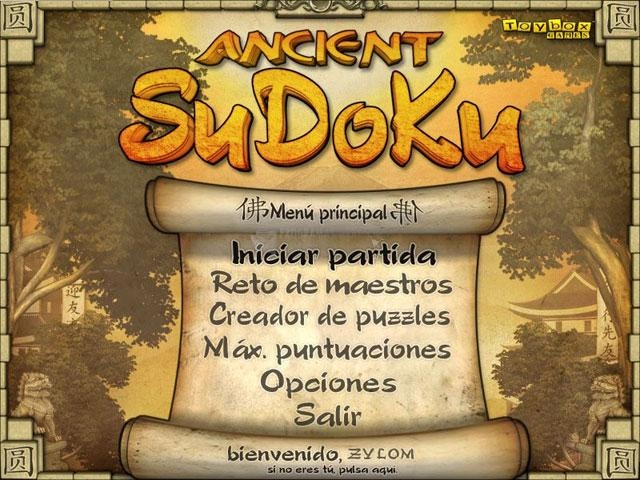 Pantallazo Ancient Sudoku Deluxe