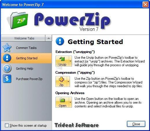 Pantallazo PowerZip