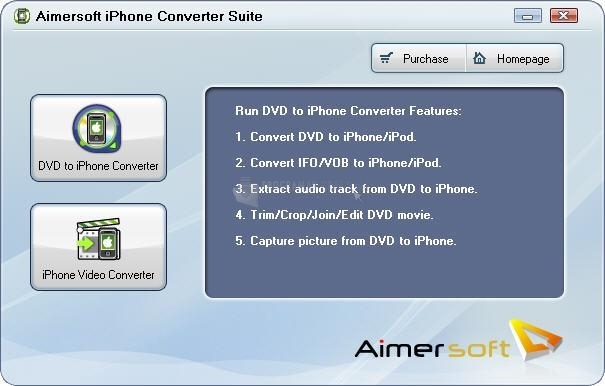 Pantallazo Aimersoft iPhone Converter Suite