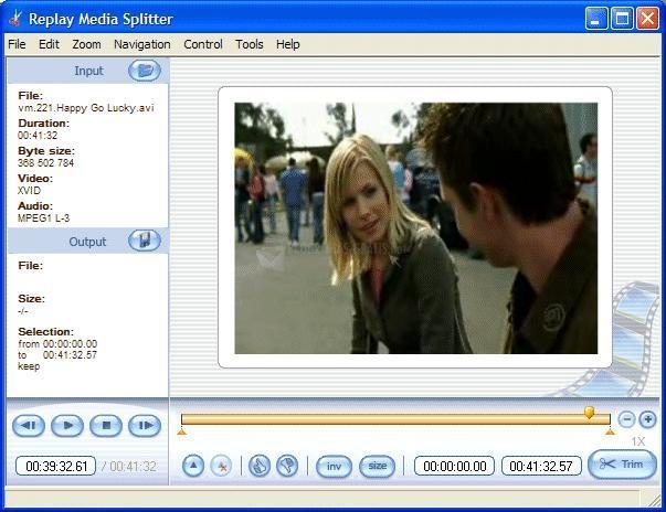 Pantallazo Replay Media Splitter