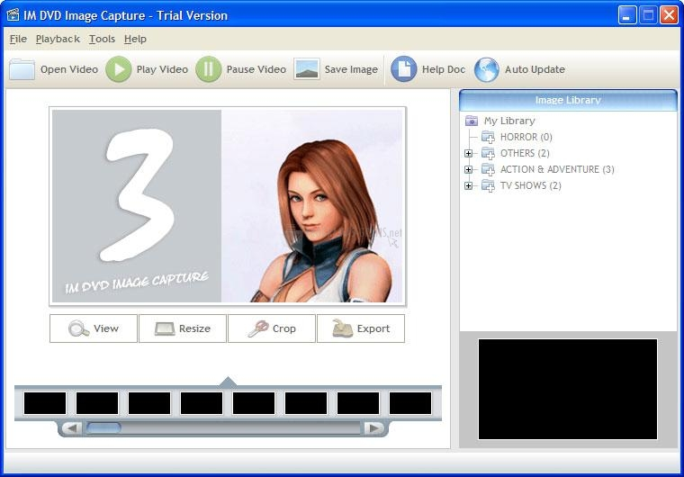 Pantallazo IM DVD Image Capture