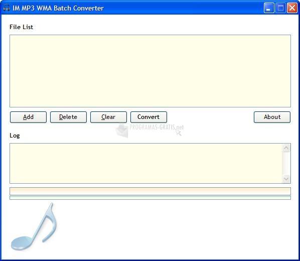Pantallazo IM MP3 WMA Batch Converter