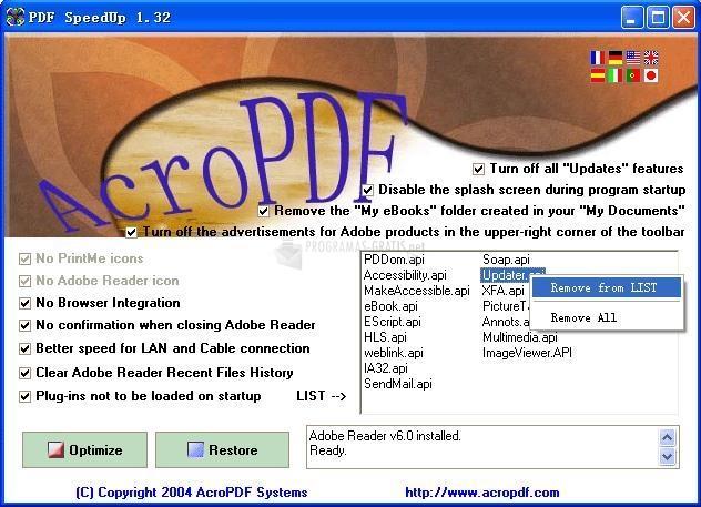 Pantallazo PDF SpeedUp