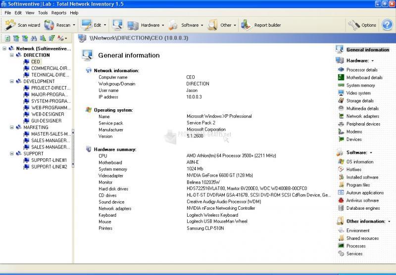 Pantallazo Total Network Inventory