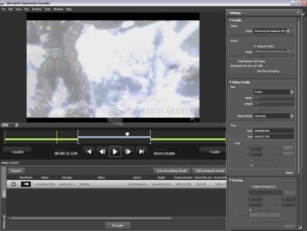Pantallazo Microsoft Expression Media Encoder