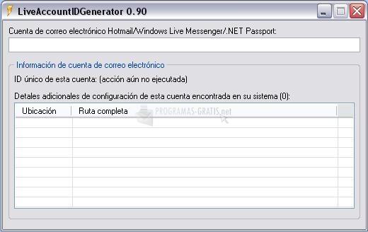 Pantallazo Live Account ID Generator