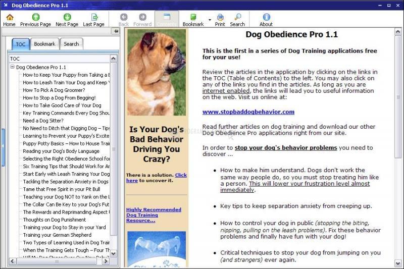 Pantallazo Dog Obedience Pro
